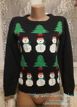 Новогодний свитерок со снеговиками, размер хс-с