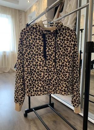 Леопардовый свитшот