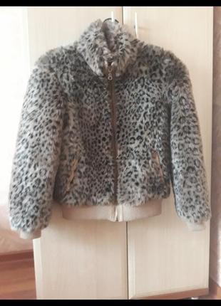 Куртка в стиле леопардовой шубки