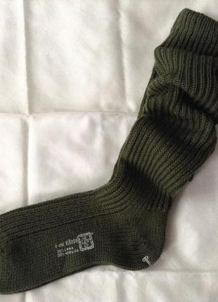 Шерстяные носки 42-43(28 см). шерсть 70%. оливковый.