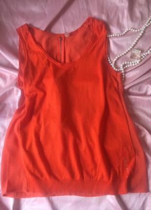 Ярко-оранжевая майка/блузка guess