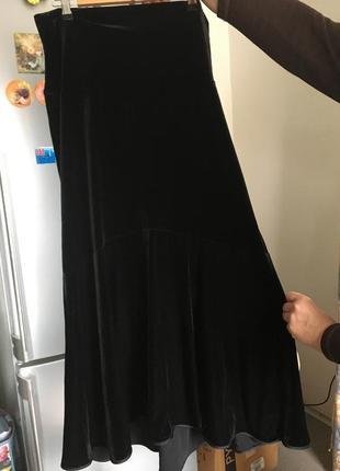 Качественная бархатная юбка для беременных