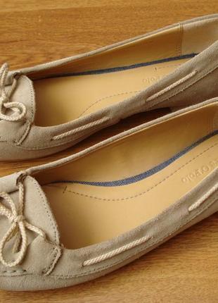 Замшевые туфли-балетки, marc o polo, р.36
