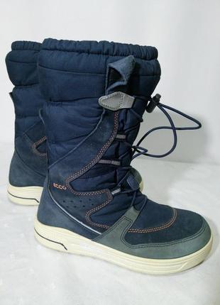 Зимние замшевые термо сапоги,ботинки ecco, 36р,стелька23см, хорошее состояние