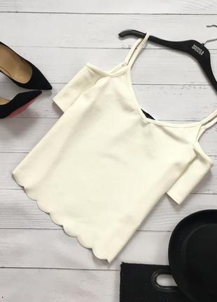 Фактурная блуза с открытыми плечами new look