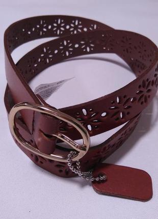 C&a кожаный ремень пояс фирменный коричневый s 36 8 44