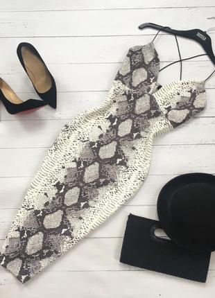 Утончённое платье миди на тонких бретелях missquided