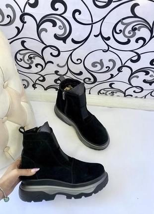 Кросовки, ботиночки на плотформе,, натуральная кожа и замша 36-40 ...2х цветная подо