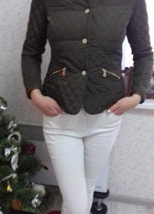 #стеганая куртка# стильная моделька# раз-р м# цвет коричневый.#