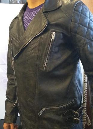 Эксклюзивная кожаная куртка косуха (кожанка) шкіряна куртка м48/50