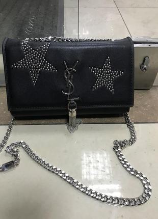 Кожаная сумка сумка кожаная на цепочке через плечо