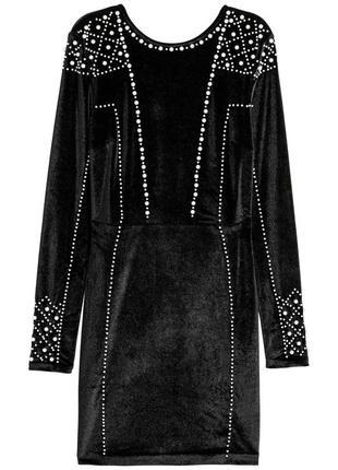 Велюровое платье h&m 598276