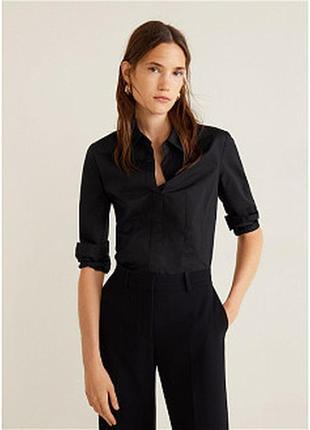 Базовая женственная черная рубашка peacocks