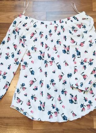 Блуза/ длинный рукав/ открытые плечи