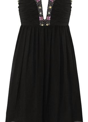 Платье коктейльное с камнями