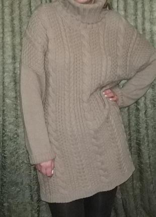 Платье свитер оверсайз от peacocks