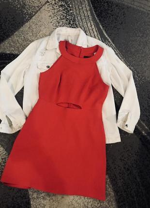 Платье красное ,размер l