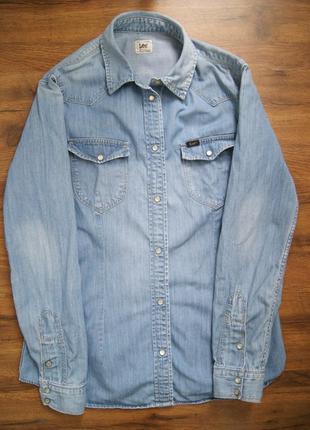 Lee джинсовая рубашка {levis} бесплатно