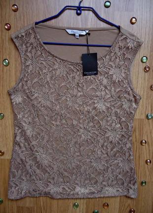 Блуза debenhams collection, цвет кофе с молоком
