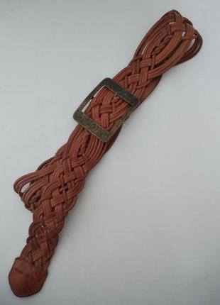 Плетенный кожаный ремень