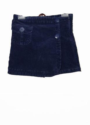 Крутая вельветовая юбка-шорты на подкладке