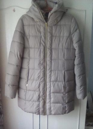 Теплая удлиненная куртка, полупальто,