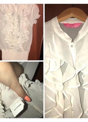 ⭐️ итальянская нежная  классная блуза с жемчугом от fontanarosa ⭐️
