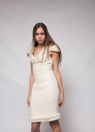 Платье твидовое esenia muratidi