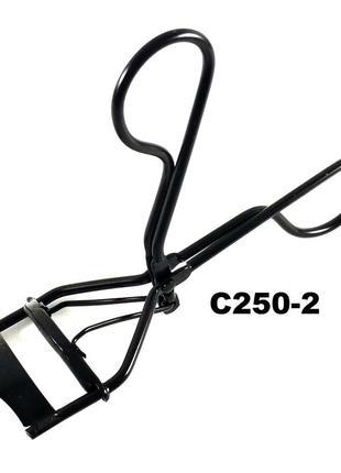 C250-2 щипцы для завивки ресниц с доп резинкой, черные
