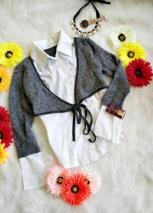 Стильна італійська комбінована блуза