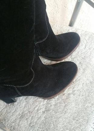 Geox,сапоги замшевые,размер 40, черные5