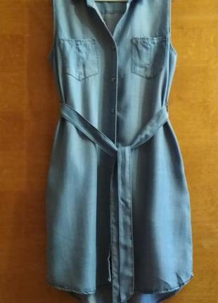 Длинное платье -рубашка  джинсовое velvet heart (американский бренд) длина 93/101