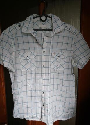Рубашка в клетку летняя