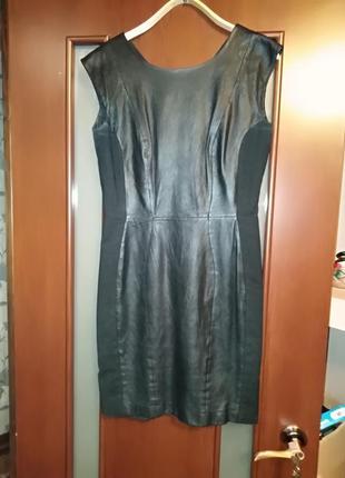 Кожаное платье  h&m