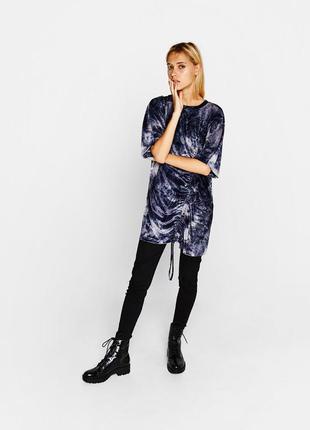Бархатное платье - свитер платье - свитшот платье - футболка оверсайз bershka s