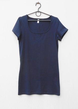 Летнее хлопковое трикотажное платье - футболка - туника