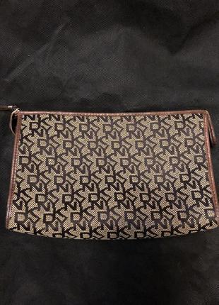 Косметичка текстиль натуральная кожа dkny