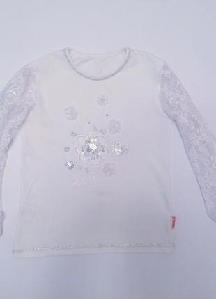 Снежинка, зима, льдинка, ангел - нарядная кофта с блеском, под любой образ, 122-128-134