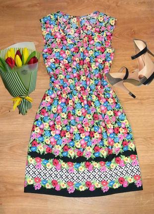 Легкое платье в цветы peacocks размер 14