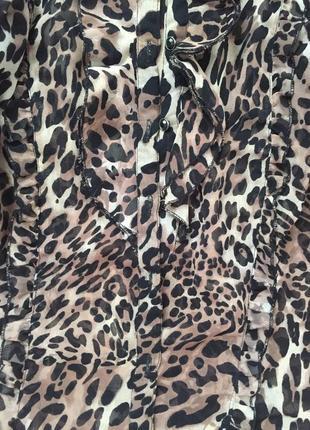 Шикарная трендовая леопардовая рубашка блуза2 фото