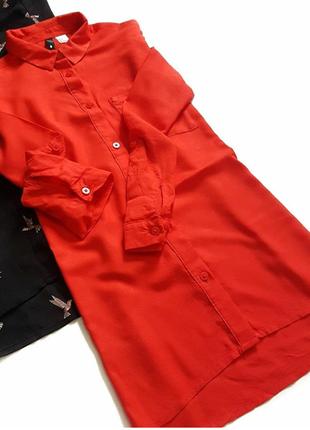 Шелковая блуза рубашка hm