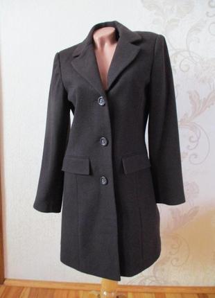 Пальто темно-коричневое/шоколадное/53% шерсть