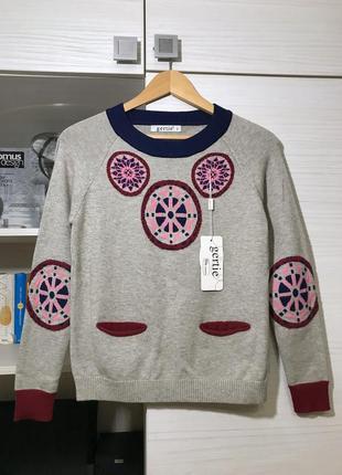 Распродажа! свитер новый (натуральный состав) джемпер размер s-m