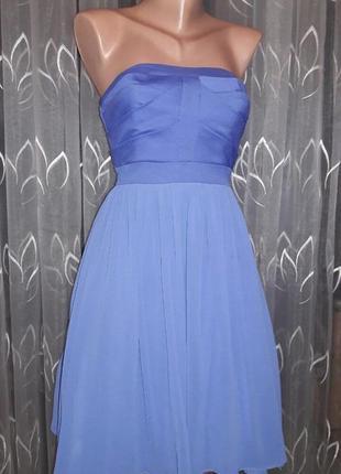 Коктельное нарядное пышное платье к новогодгтм праздникам