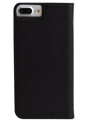 Флип чехол книжка для iphone 6 6s  7 8  plus casemate wallet folio натуральная кожа