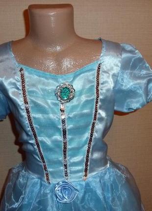 Карнавальное новогоднее платье, платье снежинки, зимы на 6-8 лет в идеале от disney2 фото