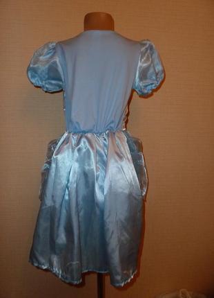 Карнавальное новогоднее платье, платье снежинки, зимы на 6-8 лет в идеале от disney3 фото