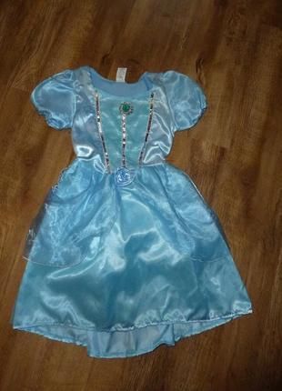 Карнавальное новогоднее платье, платье снежинки, зимы на 6-8 лет в идеале от disney4 фото