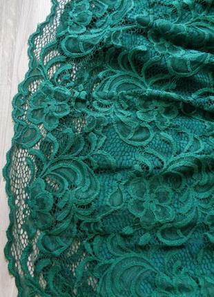 Кружевное изумрудное платье (все размеры и расцветки)3