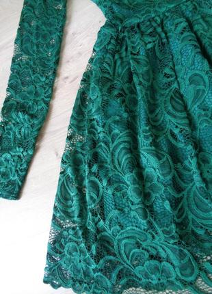 Кружевное изумрудное платье (все размеры и расцветки)4